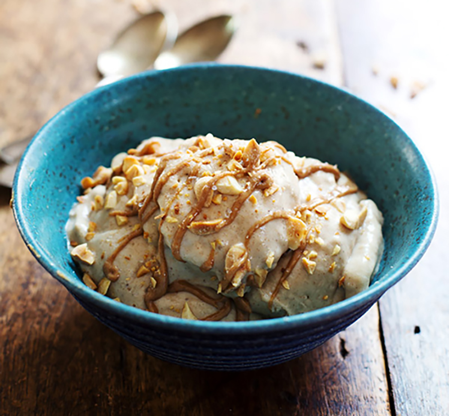 "peanut butter banana ""ice cream"" recipe"